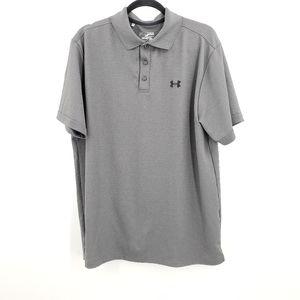 Under Armour Loose Polo Golf Shirt Heat Gear Gray
